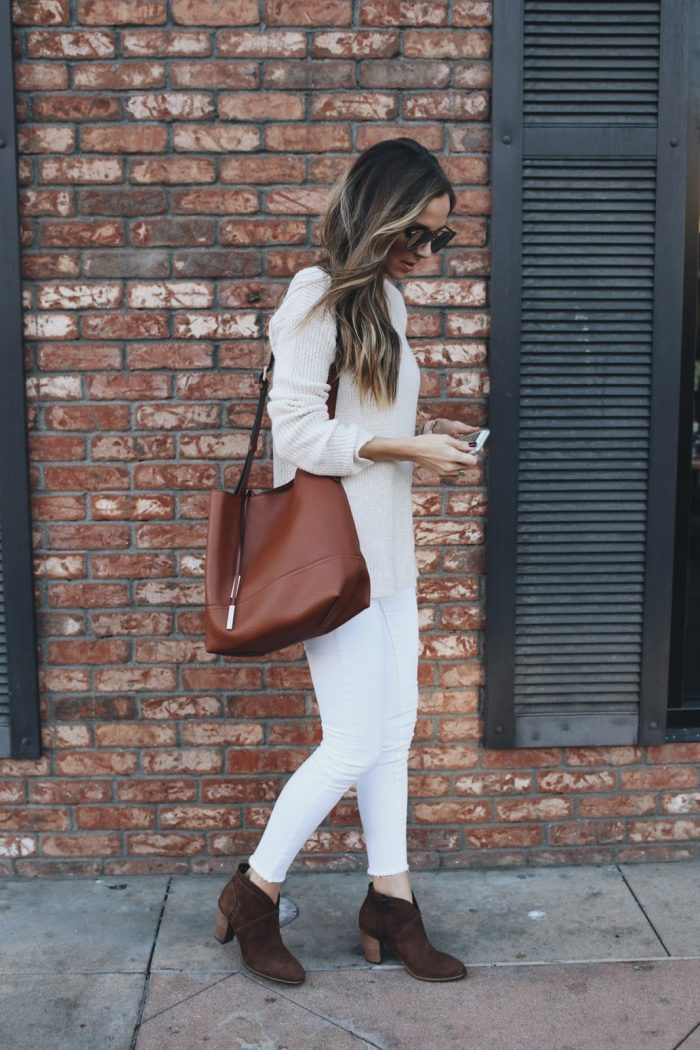 Who said white jeans were exclusively for summer wear  We think not! Create  yourself db3f9cc83