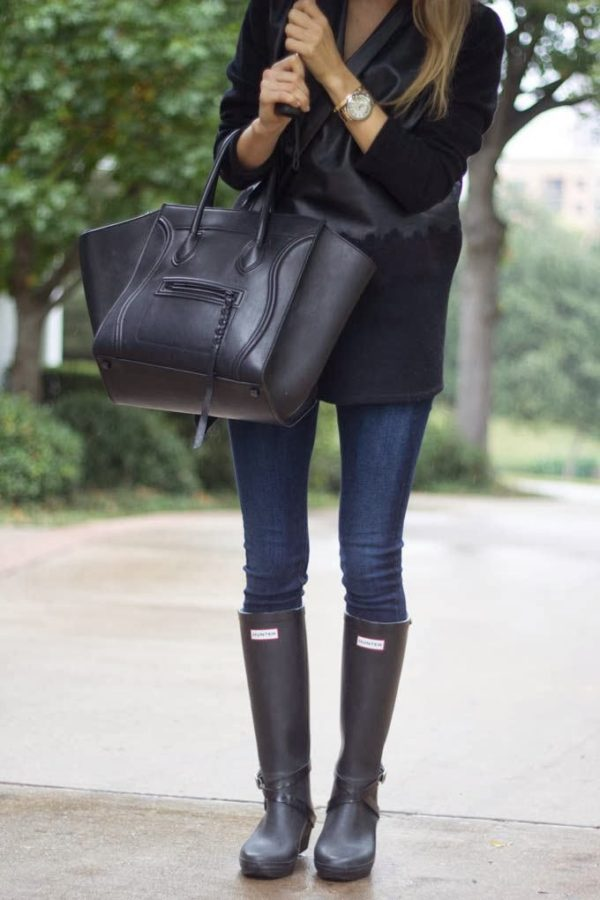How To Style And Wear Hunter Boots Just The Design