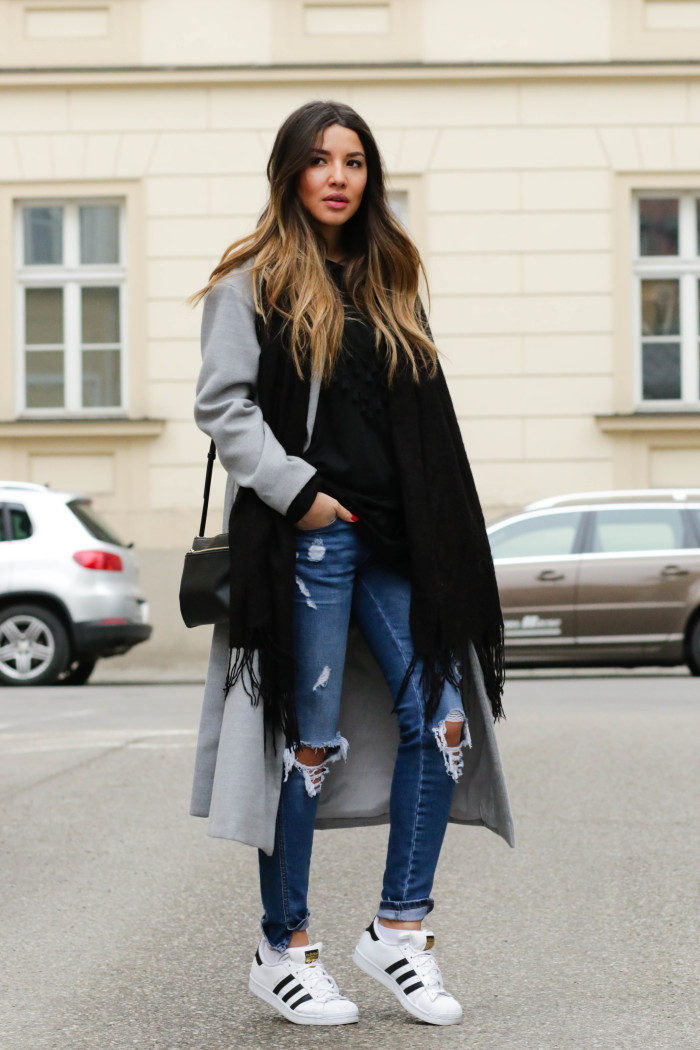 Gray Coat Outfits, 1