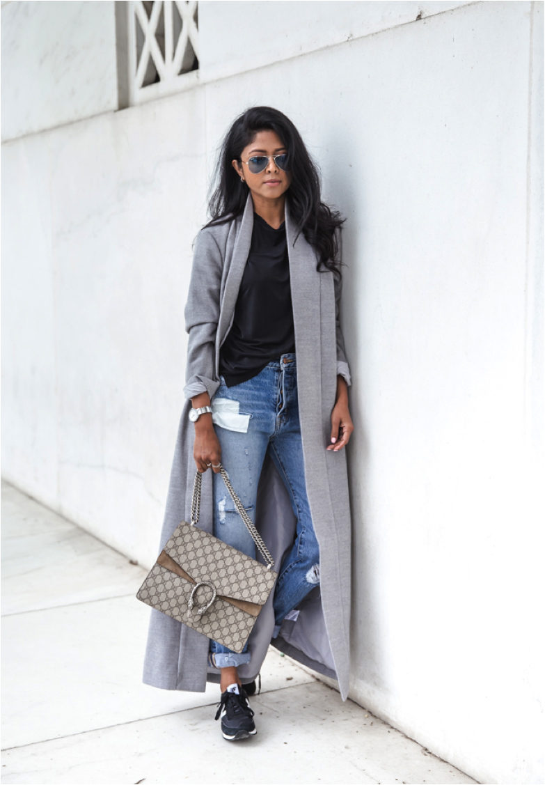 Grey Coat Outfits, 18