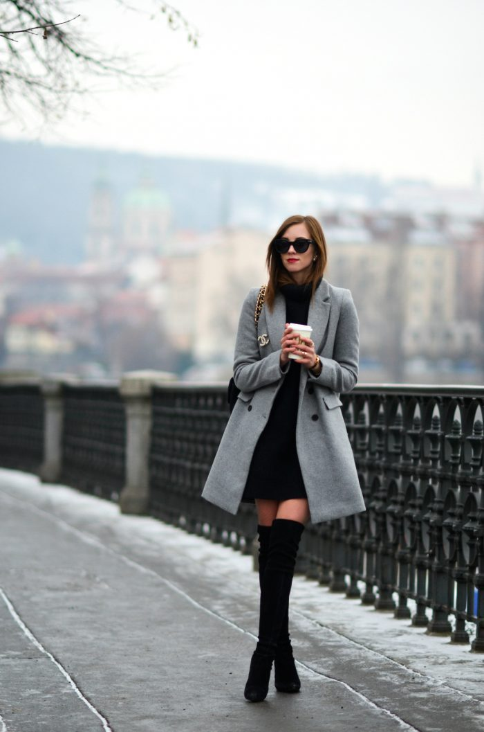 Grey Coat Outfits, 3