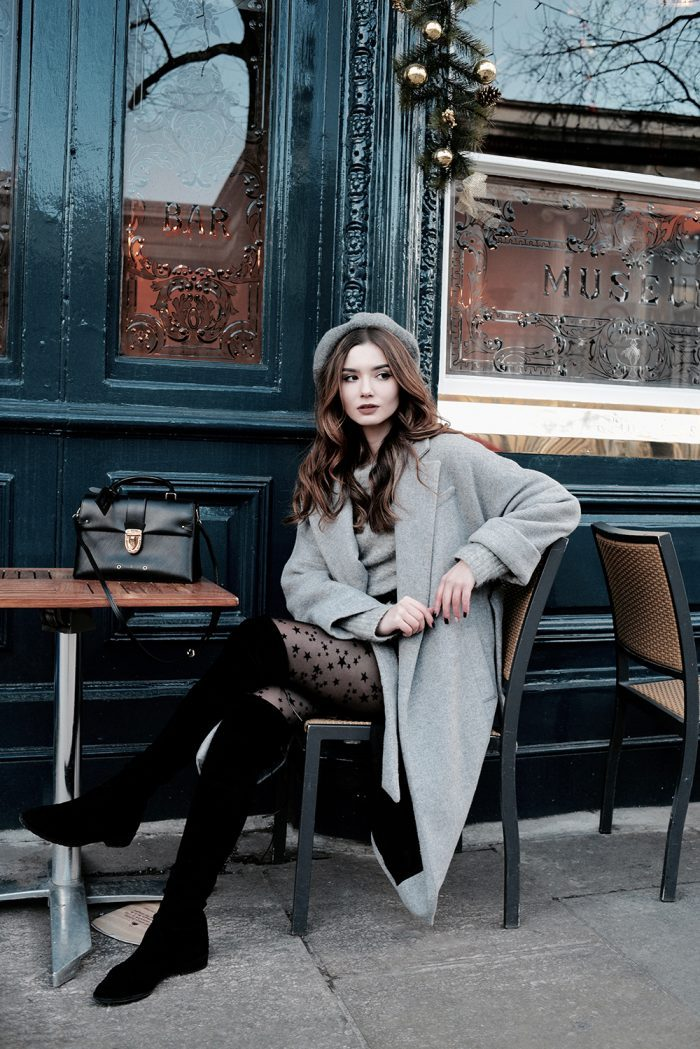 Grey Coat Outfits, 6