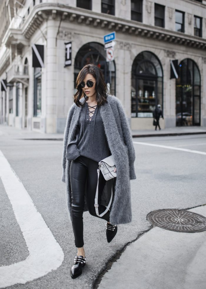 Grey Coat Outfits, 7