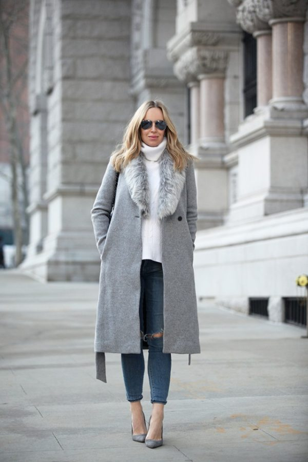 How To Wear A Faux Fur Stole Or Faux Fur Collar Coat In ...