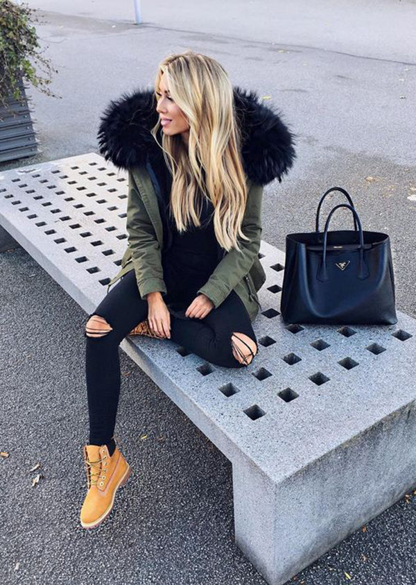 d9b9b3098f7 How To Wear Timberland Boots If You Are A Girl - Outfits With ...